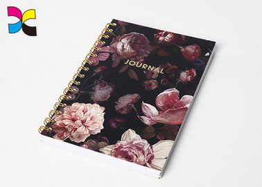 Chiny Rose Metallic Color Wire Binding Spiral Notebook Printing / Spiral Bound Printing Services fabryka